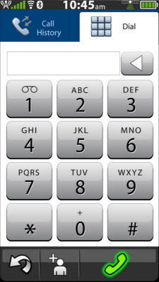 Touch-screen dial-pad