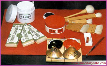 Traditional Geisha's makeup kit