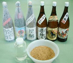 "Shochu selection backs Ethanol and dried fiber produced through ""dregs"" processing"