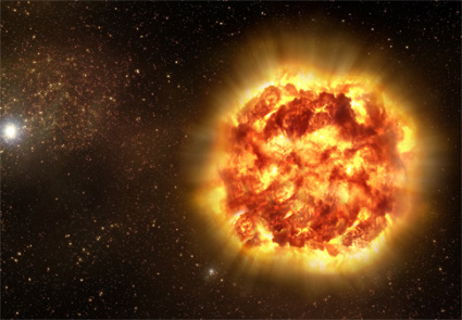 Nuclear Fusion in a Supernovae (artist's depiction)