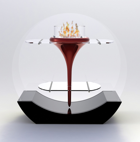 O'Flut Decorative Fireplace by Marcelo Inacio