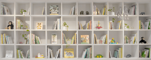 Tokyo Baby Cafe library: Photo by Jimmy Cohrssen