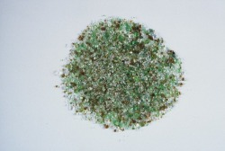 Finely ground frit &quot;has an aesthetic all of its own.&quot; Image credit: Rematerialize