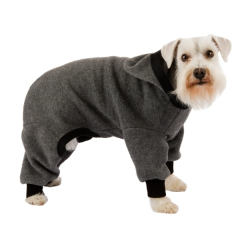 Fleece Snow Suits for Dogs http://inventorspot.com/articles/long_leggy_and_warm_protective_hoodies_boots_dogs_21703