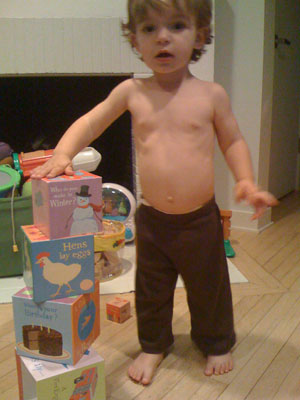 A Toddler Models Pants in a Pinch