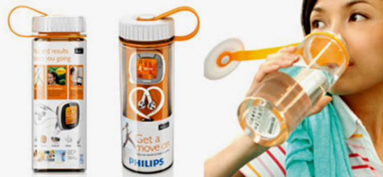 Philips Activa packaging/water bottle