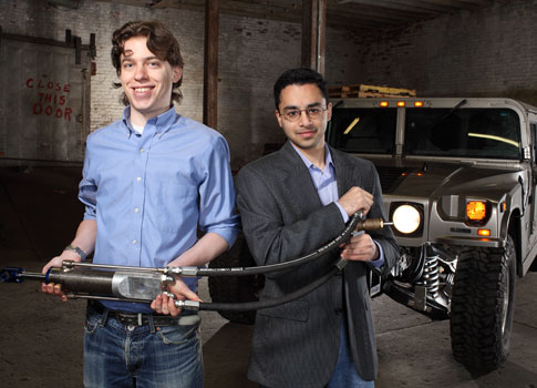Zack Andersen and Shakeel Avadhany, 2 of the 5 inventors of GenShock