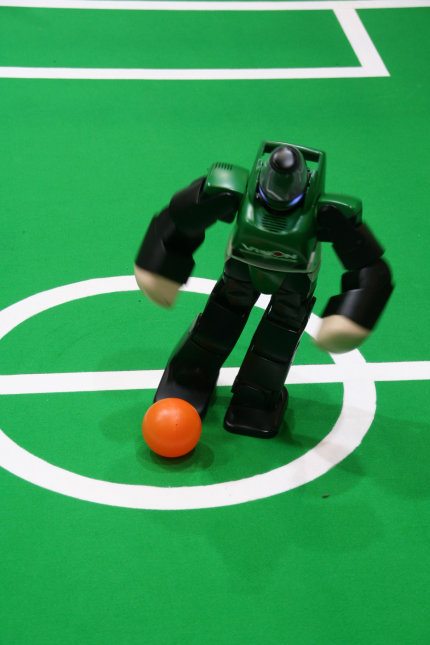 Robotic Athletes Will Someday Intimidate The Pros: Source: robocup.com