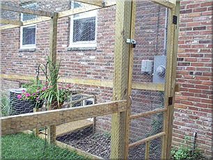 SafeCat DIY catio customer-built - human entry: image via just4cats.com