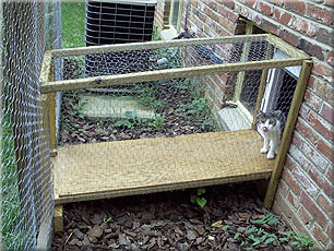 SafeCat DIY catio customer-built - cat entry: @just4cats