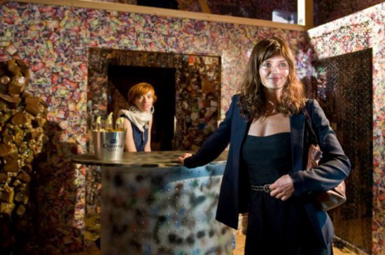 Model Helena Christensen poses for a publicity photo at the Save The Beach Hotel