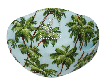 Sling Couture Flu Mask - Palm Trees: ©Sling Couture