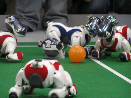 Robots Get Down With Their Miniature Soccer Game: Source: robocup.com