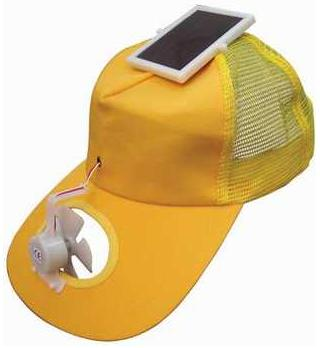 solar powered fan hat wearable gadget looks and feels cool