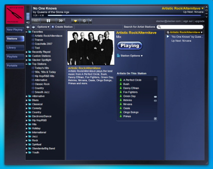 Screenshot of the Slacker software