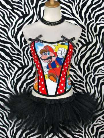 Vintage Cartoon Corset
