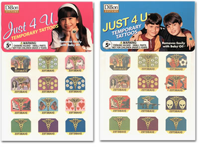 Just 4 U Temporary Tattoos for diabetic kids