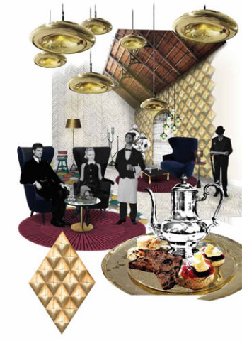 Tea Room Collage by Tom Dixon: ©Tom Dixon
