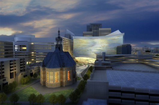 Zaha Hadid's Design For The Hague's Dance and Music Center: ©Zaha Hadid Associates