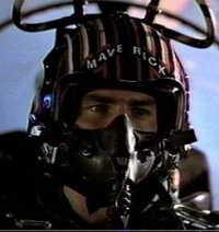 Fighter Pilot Helmet from the Mid-1980's: Top Gun