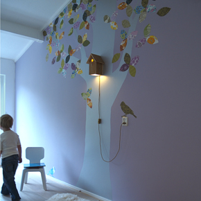 Towering Trees Revive a Room