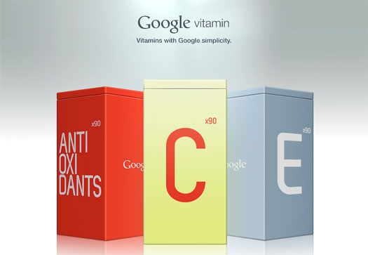 Google Vitamin concept: Andrew Kim