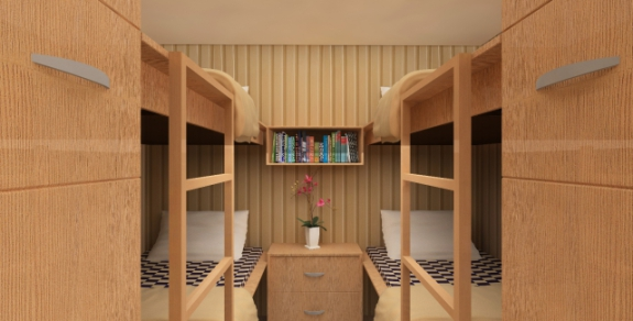 Vivos underground shelter, bedroom: ©Vivos Group