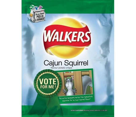 Walkers Cajun Squirrel Potato Chips