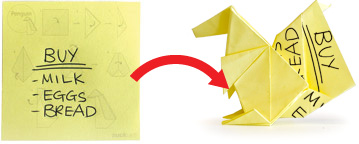 Easy Bookmark - Cat Bookmark Origami From post-it note - YouTube | 144x359