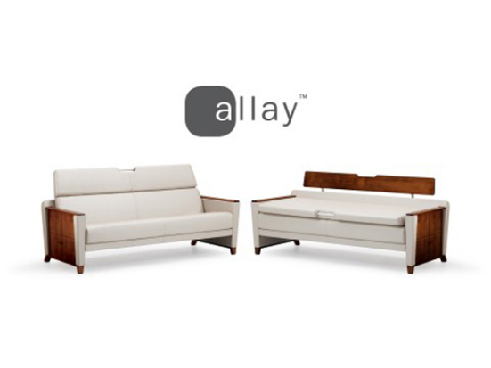 Allay Sleep Sofa by Wieland, Best of NeoCon 2010 Awards, Healthcare Seating Gold Award
