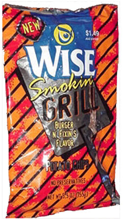 Wise Smokin&#039; Grill Hamburger &amp;amp; Fixins Potato Chips