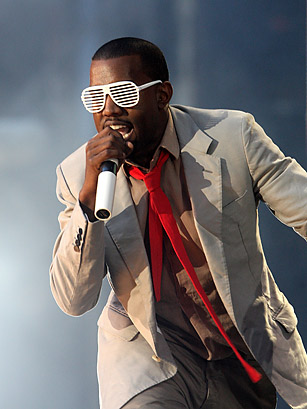 Kayne West in Venetian Blind Sunglasses: Dave Hogan/Getty Images via Time.com